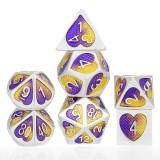 7Pcs Zinc Alloy Polyhedral Dices for Dungeons & Dragons D20 D12 D10 D8 D6 D4 Desktop Games
