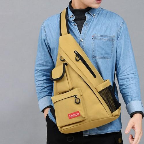 Men Fashion Light Weight Multi-pocket Tooling Bag Shoulder Bag Chest Bag