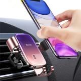 Baseus Glazed Gravity Linkage Automatic Lock Air Vent Car Phone Holder Car Mount For Smart Phone 4.7-6.5 Inch Smart Phone For iPhone 11 Pro Max for iPhone SE 2020 Xiaomi