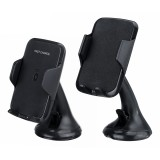 Universal 360 Degree Rotation 10W Fast Charging Wireless Charger Dashboard Windshield Car Phone Holder Mount for Samsung Xiaomi Smart Phone between 4-6.3 inch