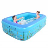 1.2/1.5m Summer Kids Inflatable Swimming Pool Center For Family Outdoor Fun Play