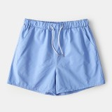 Mens Solid Color Lightweight Quick Drying Drawstring Activewear Beach Board Shorts Jogging Shorts