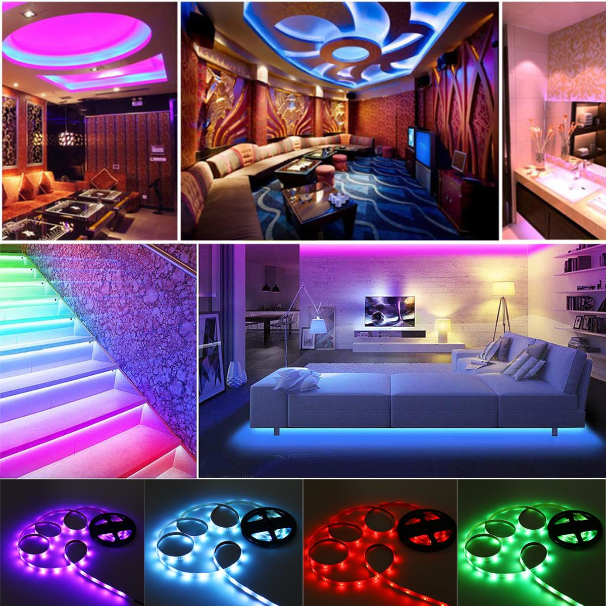 1M 3M 5M 5050 SMD RGB LED Strip Light Voice Wifi Phone Remote Control Home Lighting Decoration DC5V