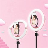 10 Inch LED Folding Selfie Ring Light Dimmable Lamp Mobile Phone YouTube Tiktok Live Beauty Photography Fill Light Lamp