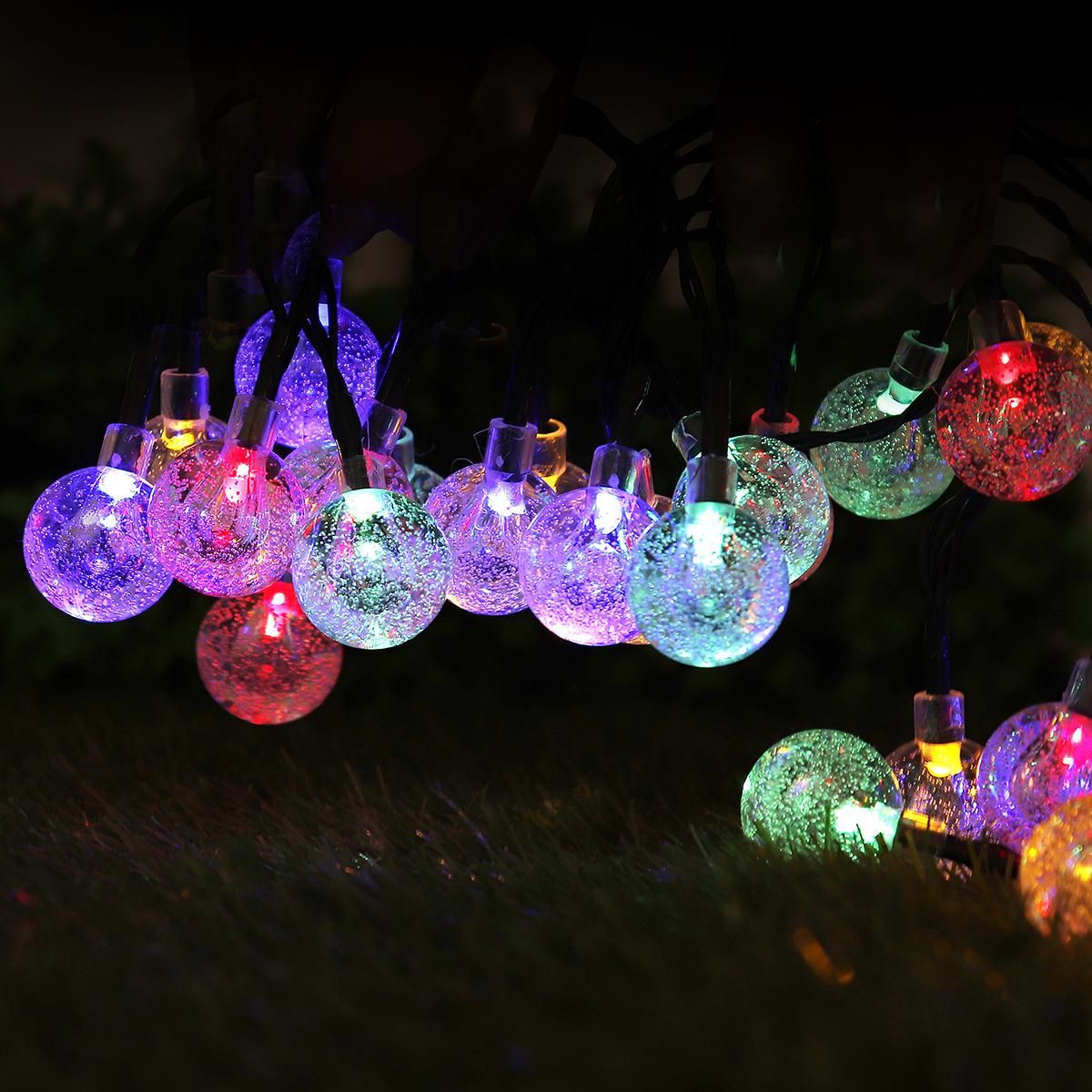 Outdoor Solar Power 50 LED String Light Garden Decor Landscape Waterproof Lamp