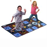16 Bit Double Dance Pad Non-slip TV Dance Mat Electronic Pad for TV Built in 218 Songs