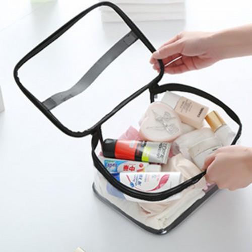 Women Waterproof Pvc Large Capacity Makeup Brush Bag Comestic Bag