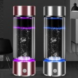 Portable Ionizer Water Bottle Hydrogen Rich Ionizer Maker Electrolysis Glass Cup