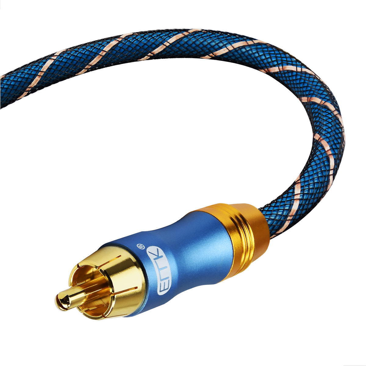 EMK 3.5 Male to Male Audio Cable Gold Plated Braid Jack For iPhone XS 11Pro Huawei P30 P40 Car Headphone Computer Speaker