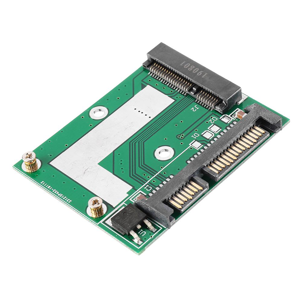 mSATA SSD to 2.5 Inch SATA 6.0GPS Adapter Converter Card Module Board Mini Pcie SSD Compatible SATA3.0Gbps/SATA 1.5Gbps
