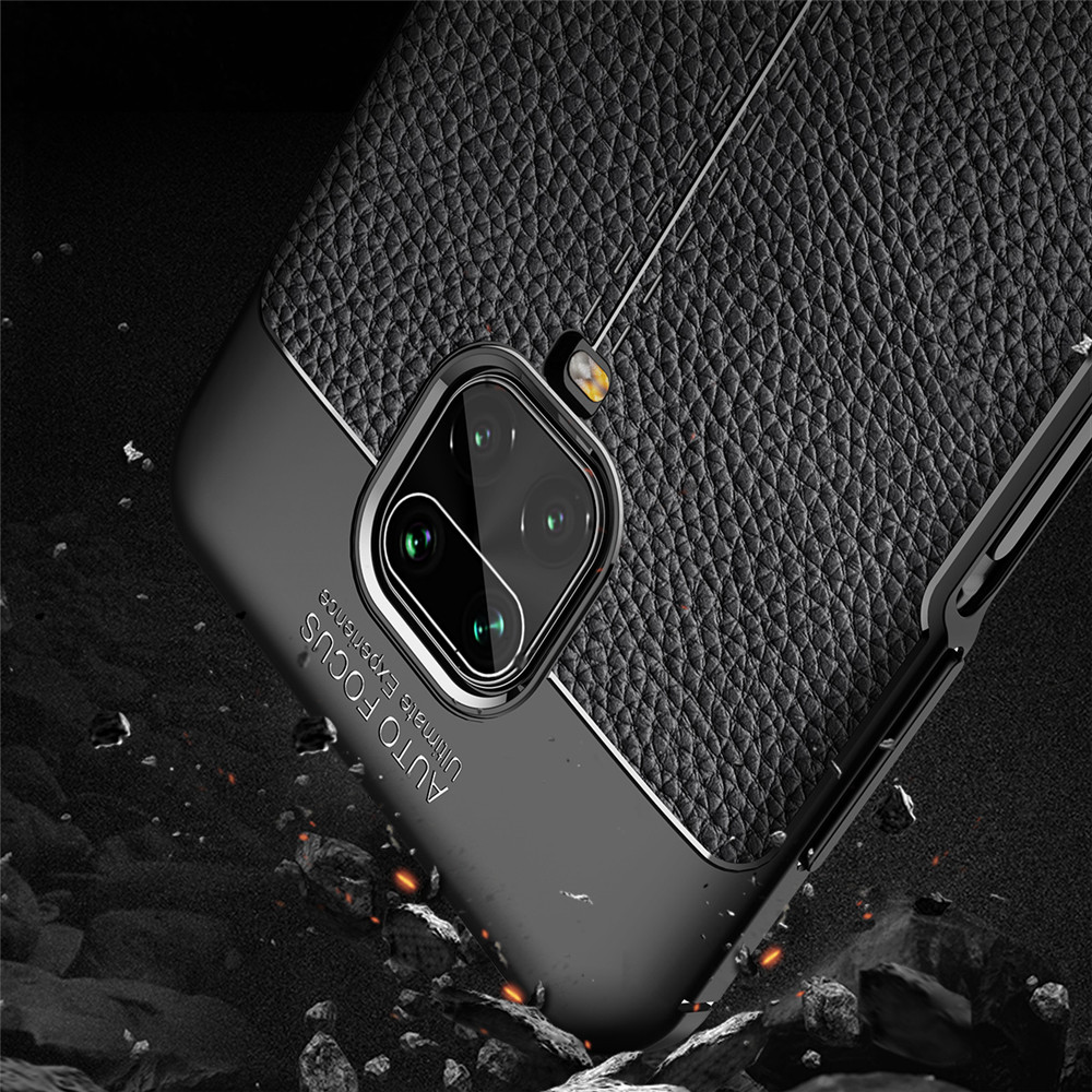Bakeey Litchi Pattern Shockproof PU Leather TPU Soft Protective Case for Xiaomi Redmi Note 9S / Redmi Note 9 Pro / Redmi Note 9 Pro Max