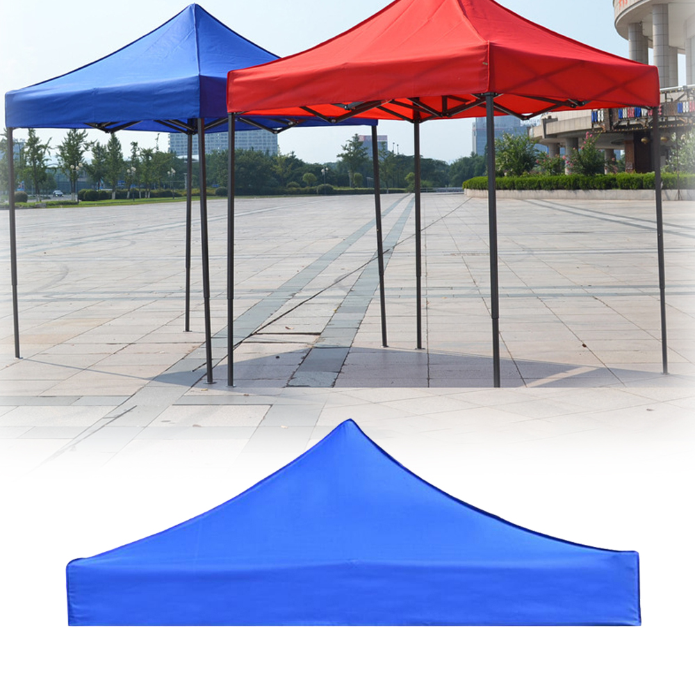 3x3m 420D Oxford Camping Tent Top Cover Awning Top Cover Waterproof UV Protection Garden Patio Tent Sunshade Canopy