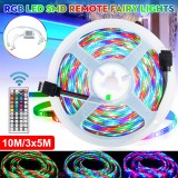 DC12V 3X5M/10M LED Strip Light Non-waterproof 3528 RGB Tape Lamp for Room TV Party Bar + Remote Control