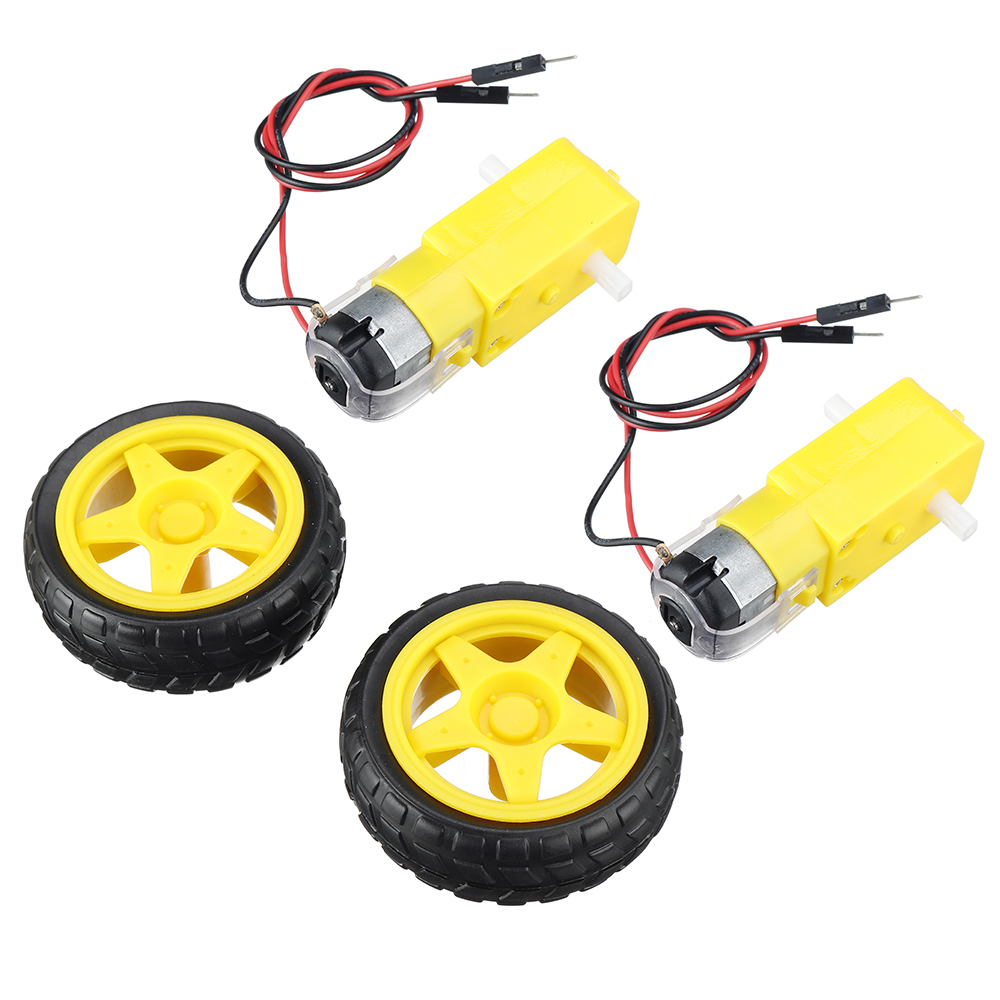 Arduino Smart Car Robot Plastic Tire Wheel with DC 3-6v Gear Motor for Robot