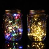 20 LED Solar String Light Mason Jar Lamp Hanging Outdoor Garden Decor Waterproof