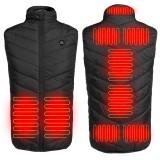 9 Heating Pads Electric Heated Vest USB Thermal Waistcoat Jacket Men Women Heating Winter Warmer