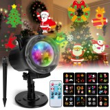 Christmas Projector Lights Elfeland Thanksgiving Projector Light with 12 Ocean Wave Patterns Christmas Projector with Remote & Timing for Indoor Outdoor Xmas New Year Party Landscape Decorations