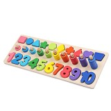 Educational Counting Geometry Wooden Toys 3 in 1 Board Math Learning Preschool Montessori Early Educational Puzzle Toys