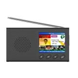 2.4″ Portable DAB/DAB+Digital Radio FM Receiver Speaker Bluetooth 5.0 Alarm Clock