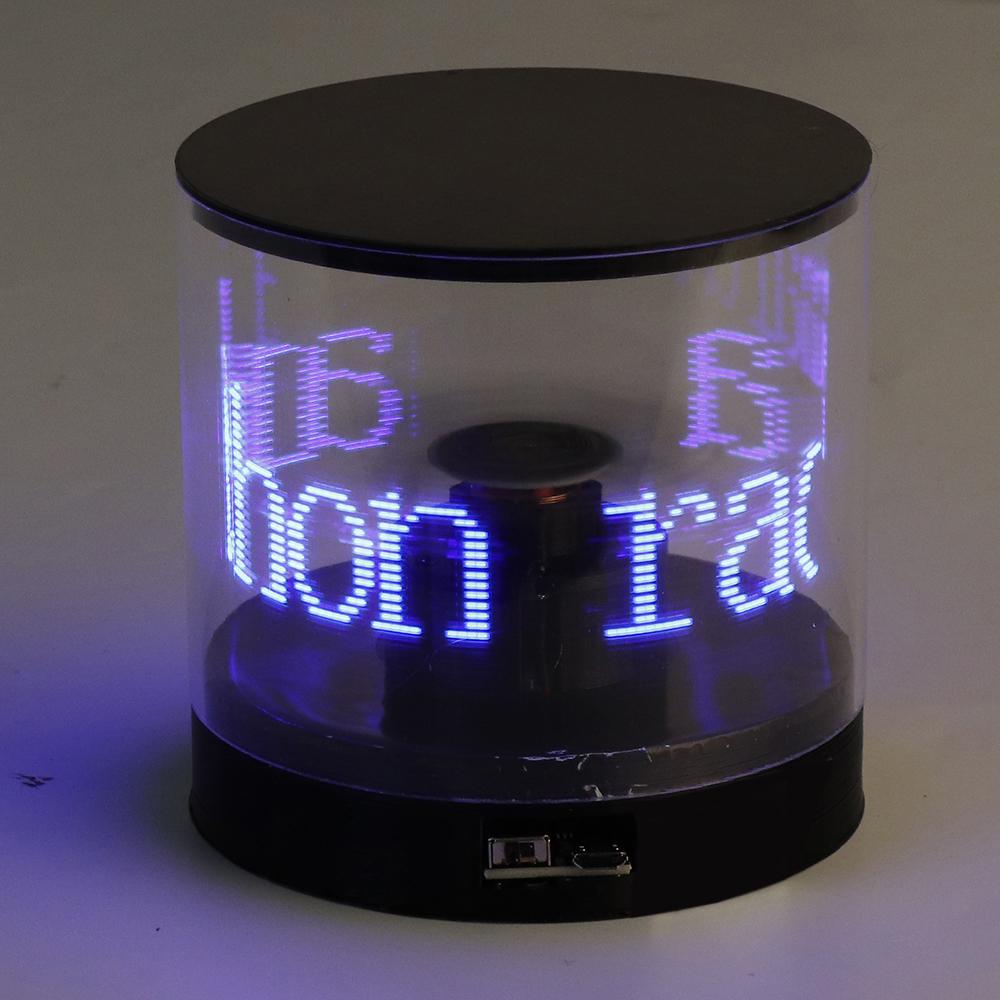 Rotary LED Electronic Rotary POV Light Electronic Contest Creative LED Assembled USB 5V Charging