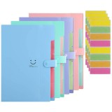 A4 Expanding File Folders 5 Layers Accordion Document Organizer Placstic File Folder Pocket Snap Closure Document Organizer Set or School Office Home