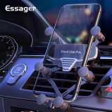 Essager Gravity Car Phone Holder + Data Cable Universal Air Vent Mount Car Holder Clip Mobile Phone Holder Stand in Car For iPhone Xiaomi Poco X3 NFC For 4.7-7 Inch Smartphone