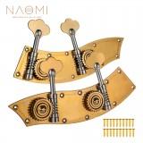 Naomi 3/4 4/4 Upright Bass Dual Tuner Machine Bass Pegs 4/4 3/4 Double Bass Tuning Pegs Head Winder Pegs SET