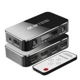 FSU HDMI Splitter 4 Input 1 Output HDMI Switcher 3.5 Jack ARC HDMI Switcher Adapter with Audio Extractor