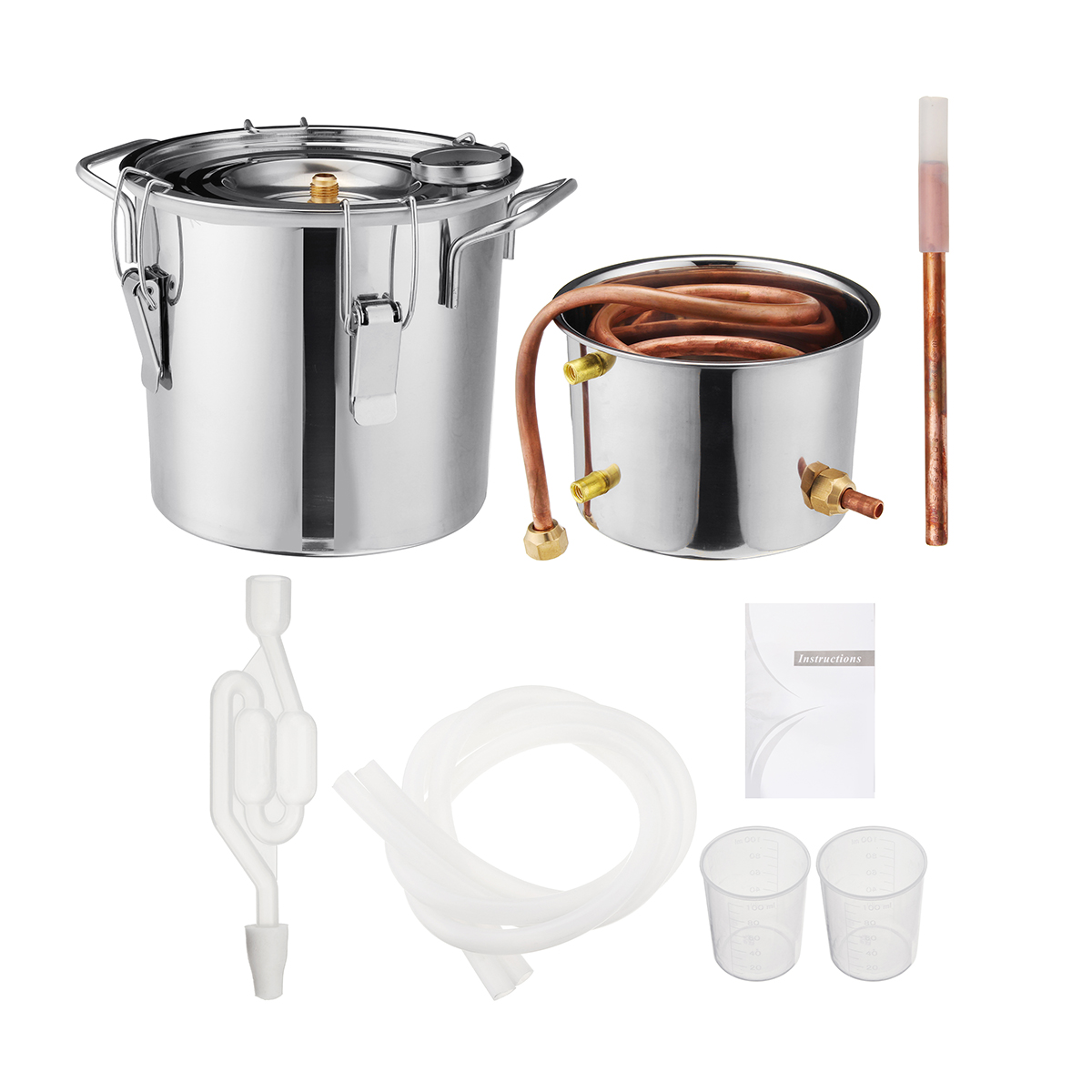 6L Brewing Machine Distiller Winemaking with Thermometer for Kitchen