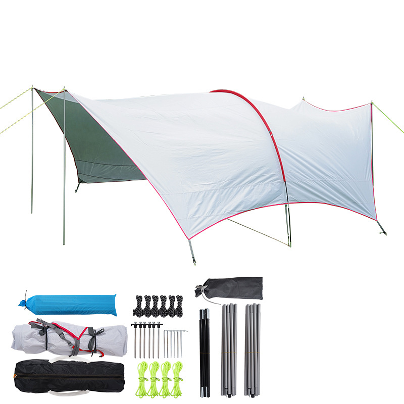 CLS UV Protect Gazebo Tent Large Beach Tent Beach Umbrella Awning BBQ Sun Shelter Outdoor Oxford Sun Canopy Waterproof Camping Tent