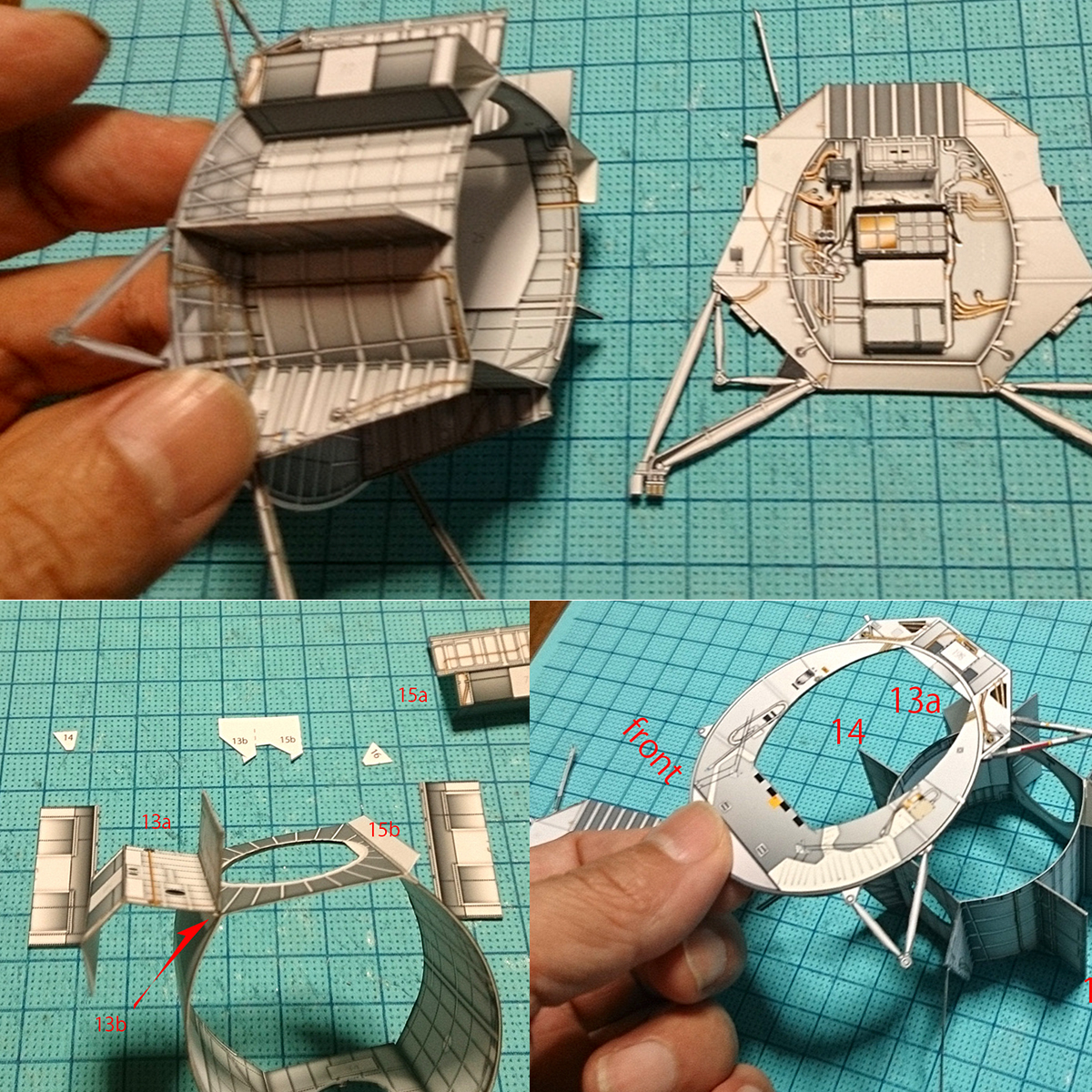 3D Puzzle Paper Model DIY Toy Space Station Assembly Toy Boys Birthday Christmas Gift for Kids DIY Handicraft's Supplies