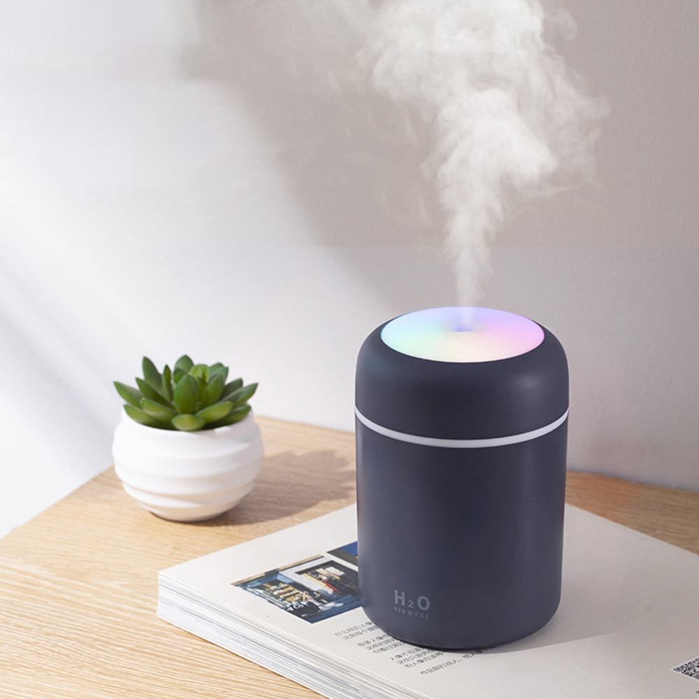 300ml Electric Air Diffuser Mini Ultrasonic Aroma Oil Humidifier Colorful Light Purifier Lonizer Home Outdoor Travel