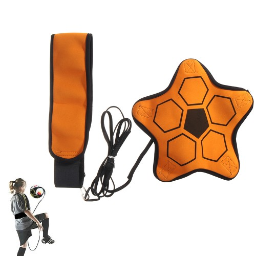 Polyester Soccer Trainer Hands Free Solo Soccer/Volleyball/Rugby Trainer Adjustable Waist Belt Football Training Fit No. 4/5 Football