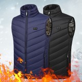 TENGOO 11 Areas Heated Vest Men Electric USB Heating Jacket Thermal Clothing Winter Skiing Cycling Clothing