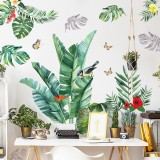 Wall Stickers Decoration Nordic INS Green Leaves Self-Adhesive Wall Paper Living Room Bedroom Stickers