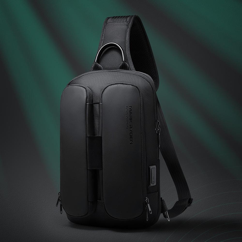 Mark Ryden MR7219 Anti-theft Chest Bag Crossbody Bag Business Bag USB Charging Men Handbag Travel Storage Bag