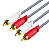 2rca to 2rca Data Cable Audio Cable 1.5/3/5m Audio Cable Connector Wire Speaker Audio Cable Speaker Audio Connection