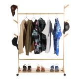 Wooden Coat Rack Shoes Rack Stand Clothes Hat Hanger Multifunctional Bookshelf Garment Clothes Hooks Shelf Home Office Furniture