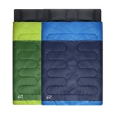 WIND TOUR Outdoor 2 Person Double Sleeping Bag With Pillows Cotton Filling Camping Hiking Comfortable Warm Sleeping Bag