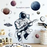 Space Theme Astronaut Wall Sticker Dormitory Living Room Wall Decor Self-Adhesive Bedroom 3d Kids Room Decoration Home Decor