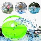 2M/6.6ft Inflatable Float PVC Ball Soft Water Walking Ball With Zipper Swimming Pool Rolling Dance Ball Water Play Toys Kids Adult Green For Outdoor Water Sports Maxload 150KG