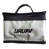 URUAV Fireproof LiPo Explosion-Proof Battery Safety Protective Storage Bag Waterproof 155x115x90mm with Luminous Handle Silver