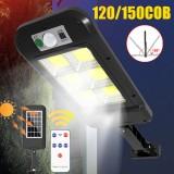 PIR Motion Sensor Solar Power LED Street Light Outdoor IP67 Garden Yard Wall Lamp + Remote Control
