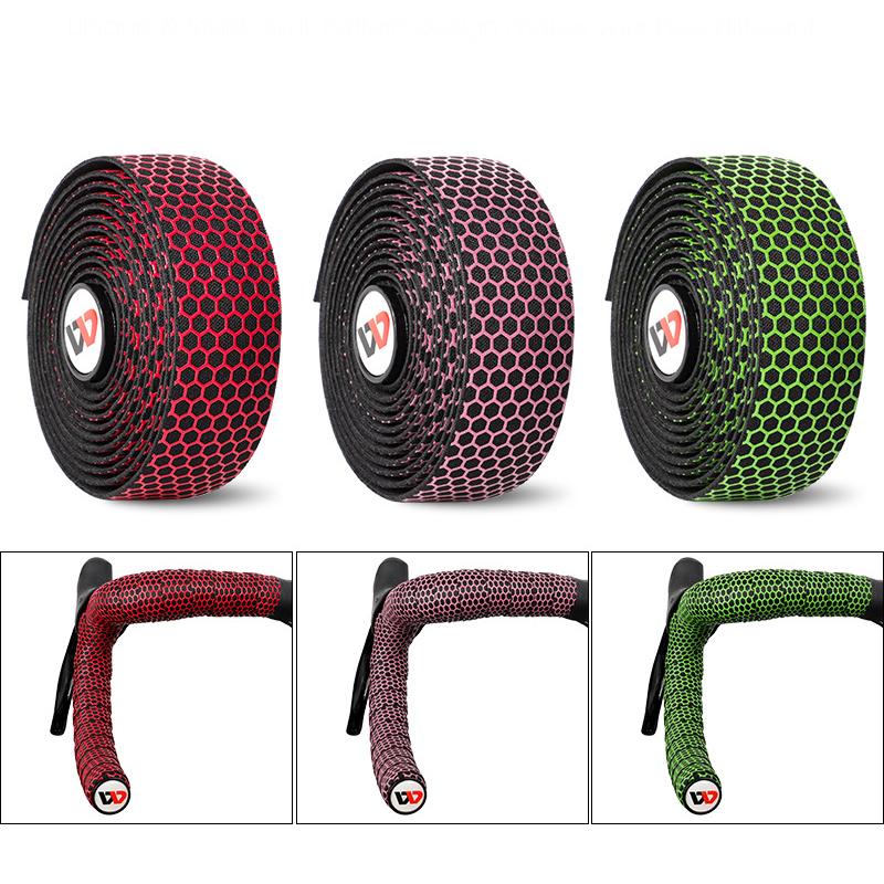 WEST BIKING Bike Handlebar Tape Road Bicycle Anti-slip Silica Gel EVA Shock Absorption Handle Bar Tape Cycling Wrap End Plug