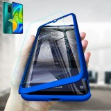 Bakeey for Xiaomi Redmi Note 9 / Redmi 10X 4G Case 3 in 1 Plating 360 Full Cover Frosted with Tempered Glass PC Hard Protective Case
