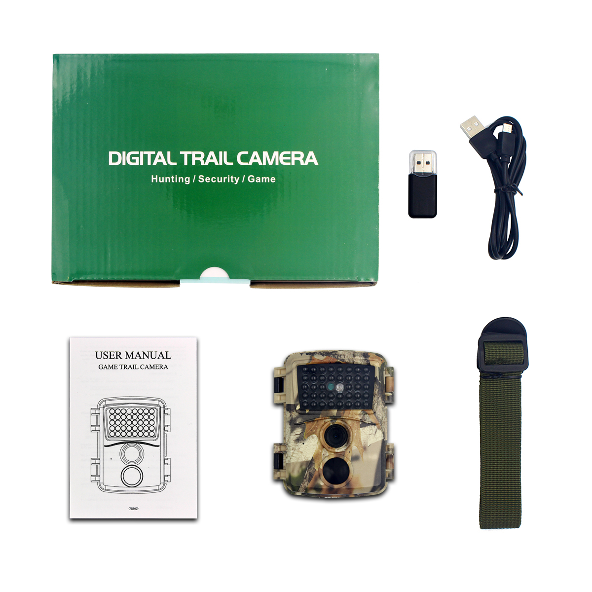 PR600C 12MP 1080P Night Vision Waterproof Hunting Camera 0.8s Trigger Time Recorder Wildlife Trail Camera for Home Security and Wildlife Monitoring