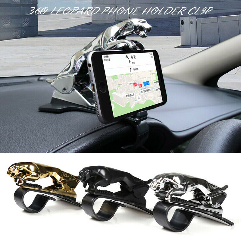 Bakeey Leopard Car Phone Holder Dashboard Mount Universal body Cellphone Clip GPS Bracket Mobile Phone Holder Stand for Smartphone