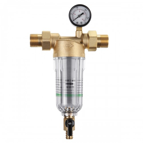 Water Pre-Filter System 1'' To 1/2'' 3/4'' 40UM Pre-filter Brass Mesh Prefilter