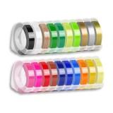 1pcs 6mm 9MM 12MM Dymo 3D Plastic Embossing Tape for Embossing Label Maker PVC LABEL DYMO 1610 12965 1880 1540 Motex E101 Printer