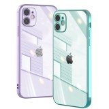 Bakeey for iPhone 12 Mini Case Plating Ultra-Thin with Lens Protector Transparent Non-Yellow Shockproof Soft TPU Protective Case